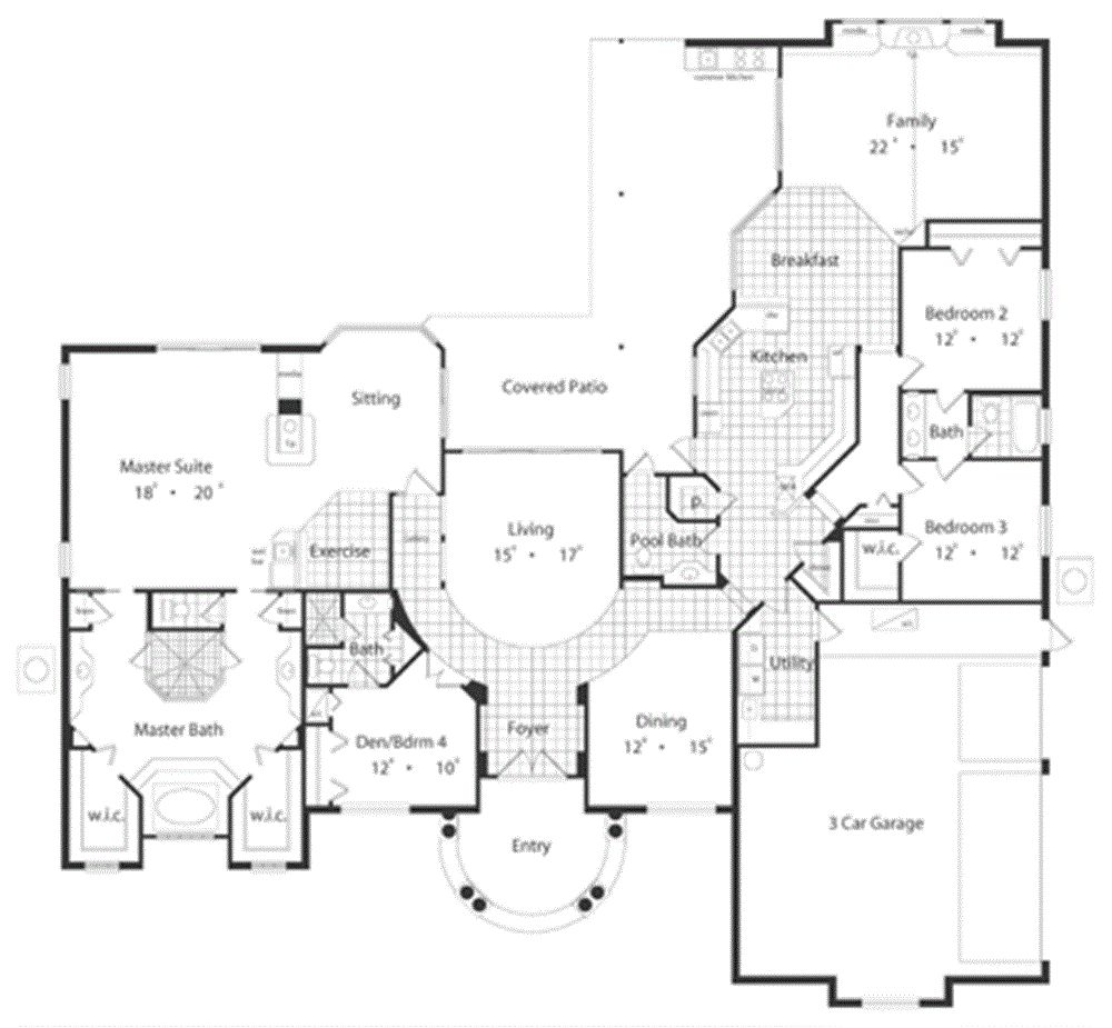 luxury gold house plan